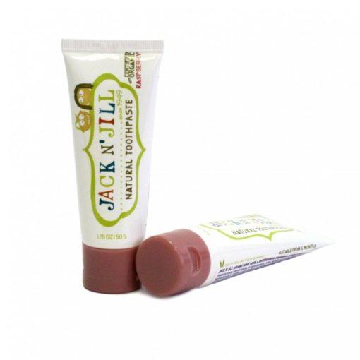 Jack n' Jill Dětská zubní pasta - malina BIO (50 g) - bez fluoru