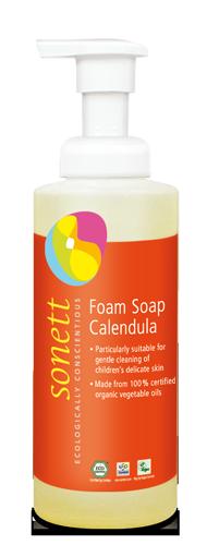 Sonett Tekuté pěnivé mýdlo pro děti - měsíček BIO (200 ml)