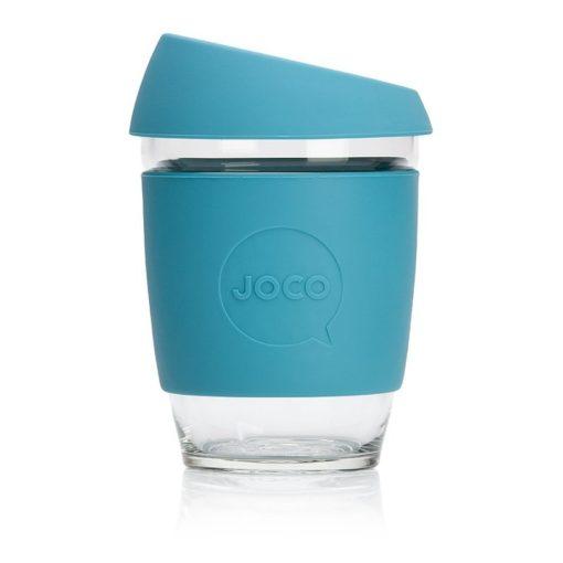 Jococup (354 ml) - azurově modrý - z odolného borosilikátového skla