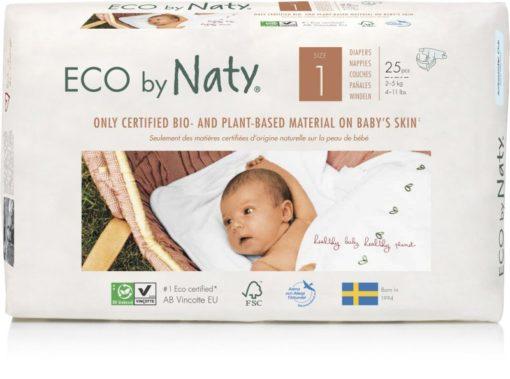 Naty Ekoplenky pro novorozence 1 (2 - 5 kg) (25 ks) - z 55-60 % rozložitelné