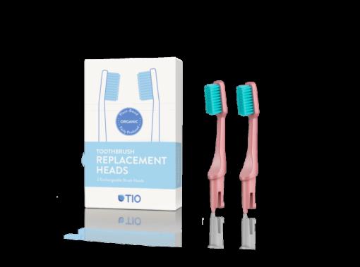 TIO Náhradní hlavice k zubnímu kartáčku (medium) (2 ks) - korálově růžová