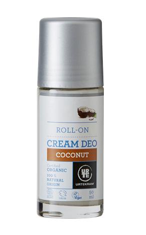 Urtekram Krémový deodorant roll-on s kokosem BIO (50 ml)