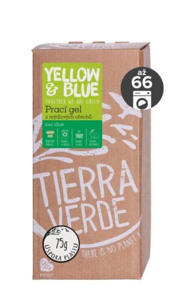 Yellow&Blue Prací gel bez vůně (2 l) - z bio mýdlových ořechů