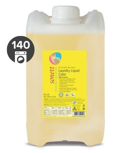 Sonett Tekutý prací gel na barevné prádlo BIO (10 l) - s mátou a citrónem