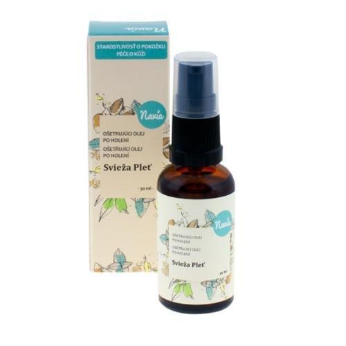 Navia Uklidňující olej po holení Svěží pleť BIO (30 ml) - se svěží bylinkovou vůní
