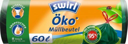 Swirl EKO Zatahovací pytle (8 ks) - 60 l - z 95 % z recyklovaných materiálů