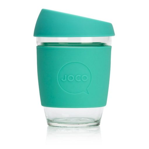 Jococup (354 ml) - mátově zelený - z odolného borosilikátového skla