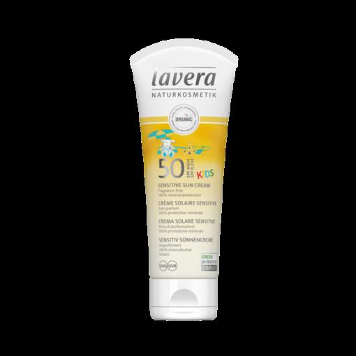 Lavera Jemný opalovací krém Sensitive pro děti SPF 50 BIO (75 ml)