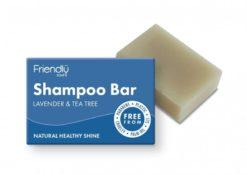 Friendly Soap Přírodní mýdlo na vlasy levandule a tea tree (95 g)