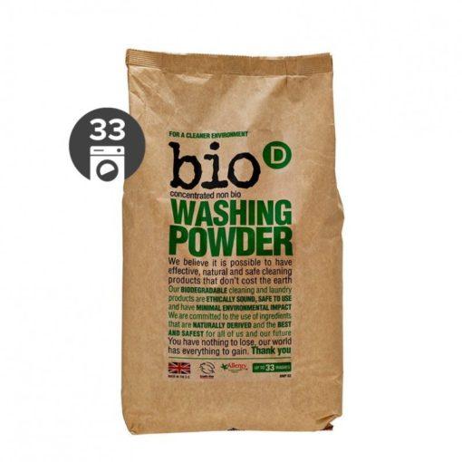 Bio-D Prášek na praní bez vůně (2 kg) - vhodný i pro citlivou pokožku