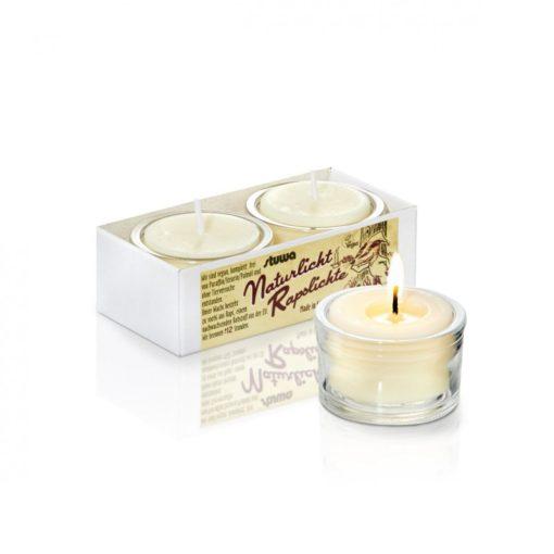 Stuwa Sada malých svíček ve skle (2 ks x 28 g) - bez vůně - bez parfemace