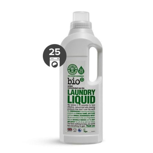 Bio-D Tekutý prací gel s vůní jalovce a mořské řasy (1 l) - pro bílé i barevné prádlo