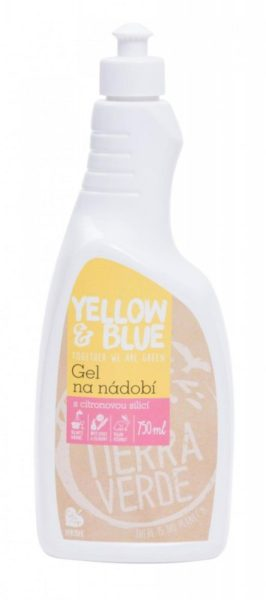 Yellow&Blue Gel na nádobí (750 ml) - z mýdlových ořechů v biokvalitě