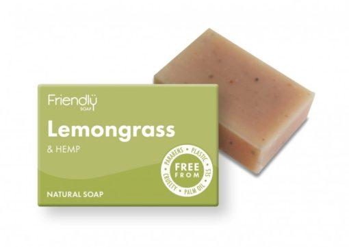 Friendly Soap Přírodní mýdlo citronová tráva a konopí (95 g)