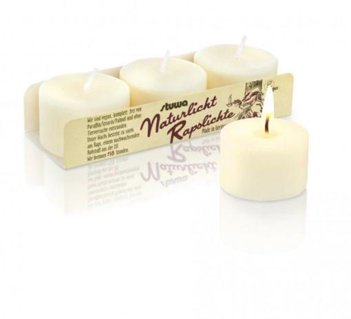 Stuwa Sada malých svíček (3 ks x 30 g) - bez vůně - bez dózy a parfemace