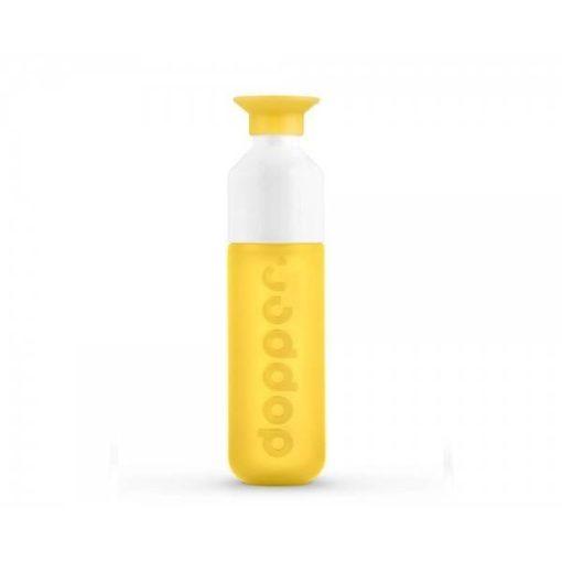 Dopper Original Lahev na vodu (450 ml) - žlutá - uzávěr slouží jako kelímek