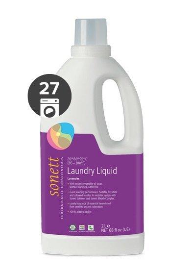Sonett Univerzální tekutý prací gel na bílé i barevné prádlo BIO (2 l)