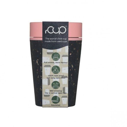 rCUP (227 ml) - černá/růžová - z jednorázových papírových kelímků