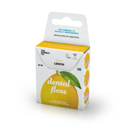 The Humble Dentální nit (50 m) - citron - netřepí se