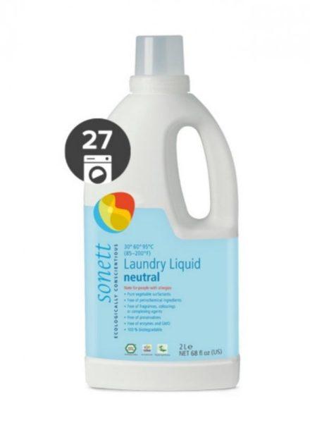 Sonett Univerzální tekutý prací gel na bílé i barevné prádlo Sensitive BIO (2 l)