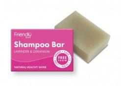 Friendly Soap Přírodní mýdlo na vlasy levandule a pelargonie (95 g)