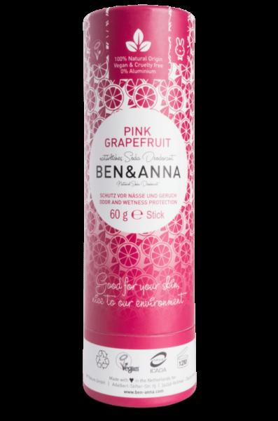 Ben & Anna Tuhý deodorant BIO (60 g) - Růžový grapefruit