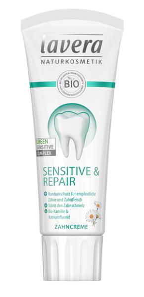 Lavera Basis Sensitive Zubní pasta s fluorem pro citlivé zuby BIO (75 ml)