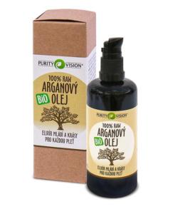 Purity Vision Arganový olej RAW BIO (100 ml) - elixír mládí a krásy