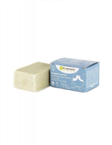 laSaponaria Tuhý šampon čisticí proti lupům BIO (50 g) - balený v recyklovaném kartonu
