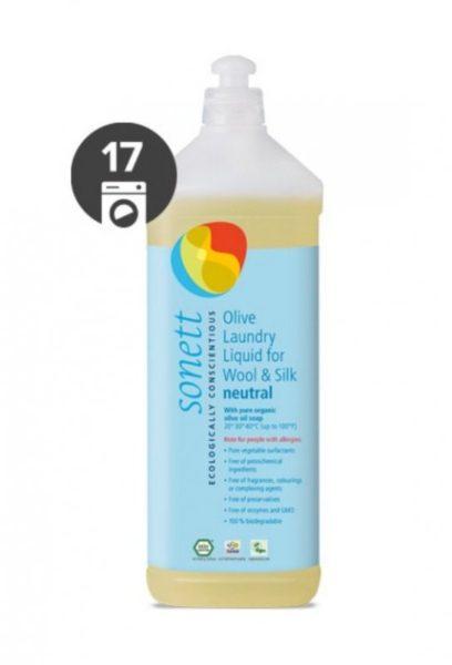 Sonett Olivový prací gel na vlnu a hedvábí Sensitive (1 l) - i pro nejcitlivější a alergickou pokožku
