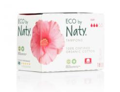 Naty Tampony Super (18 ks) - 100% z biobavlny