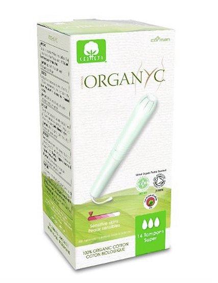 Organyc Tampony s aplikátorem Super (14 ks) - 100% z biobavlny