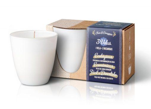 The Greatest Candle Sada - 1x svíčka (130 g) + 2x náplň - hřebíček a skořice - doma si vyrobíte dvě další svíčky