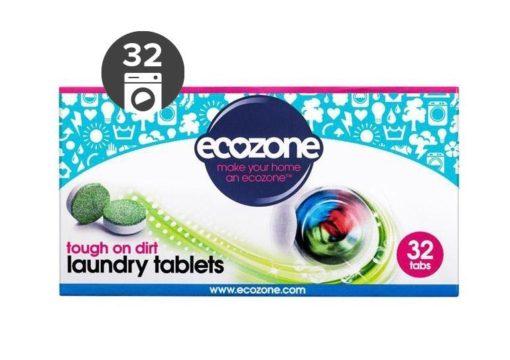 Ecozone Univerzální tablety na praní (32 ks) - extra účinné na skvrny a špínu