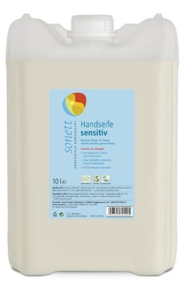 Sonett Tekuté mýdlo Sensitive BIO (10 l) - i pro nejcitlivější a alergickou pokožku