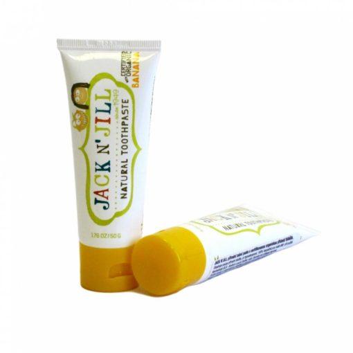 Jack n' Jill Dětská zubní pasta - banán BIO (50 g) - bez fluoru