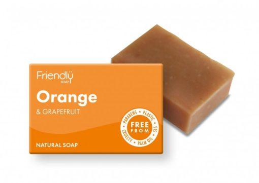 Friendly Soap Přírodní mýdlo pomeranč a grep (95 g)