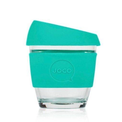 Jococup (236 ml) - mátově zelený - z odolného borosilikátového skla