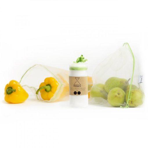 Frusack Knit Duo Pack - zelená (2 ks) - z pevné kompostovatelné pleteniny