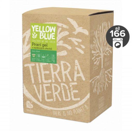 Yellow&Blue Prací gel bez vůně (5 l) - z bio mýdlových ořechů