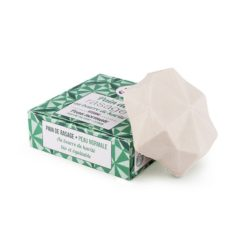 Lamazuna Tuhé mýdlo na holení pro normální pokožku - zelený čaj a citrón (17 g) - pro dámy i pro pány