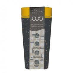 rCUP (340 ml) - černá/hořčicově žlutá - z jednorázových papírových kelímků