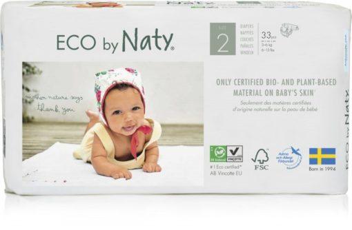 Naty Ekoplenky Mini 2 (3 - 6 kg) (33 ks) - z 55-60 % rozložitelné