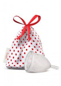 LadyCup Menstruační kalíšek - transparentní - velký (L)