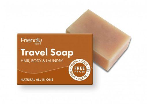 Friendly Soap Přírodní mýdlo na tělo i vlasy na cestování (95 g)