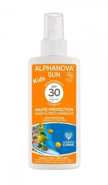 Alphanova Sun Opalovací krém ve spreji pro děti SPF 30 BIO (125 g)