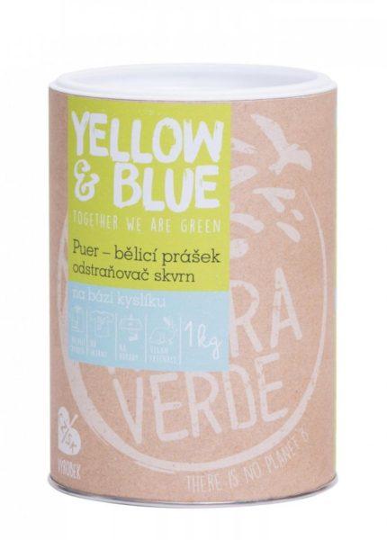 Yellow&Blue Puer - bělící prášek pro praní (dóza 1 kg)
