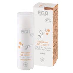 Eco Cosmetics CC krém SPF 30 BIO - dark (50 ml) - komplexní péče pro vaši pleť