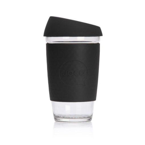 Jococup (473 ml) - černý - z odolného borosilikátového skla