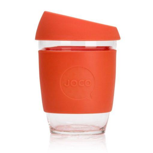 Jococup (354 ml) - oranžový - z odolného borosilikátového skla